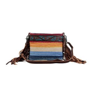 Etched Rainbow Tooled Bag