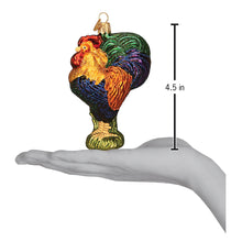 Load image into Gallery viewer, heirloom rooster ornament gift glass old world christmas tree glitter class chicken dimensions