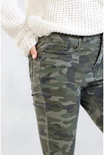 Load image into Gallery viewer, MudPie Rory Green Camo Jeans