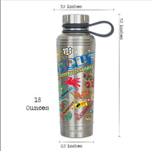 Load image into Gallery viewer, CatStudio Route 66 thermal bottle water coffee travel highway stainless steel gift unisex