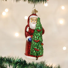 Load image into Gallery viewer, Santa With Calling Birds Ornament