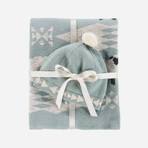 Pendleton Baby Blanket with Beanie, Sheep Dreams