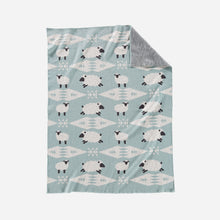 Load image into Gallery viewer, Pendleton Baby Blanket with Beanie, Sheep Dreams