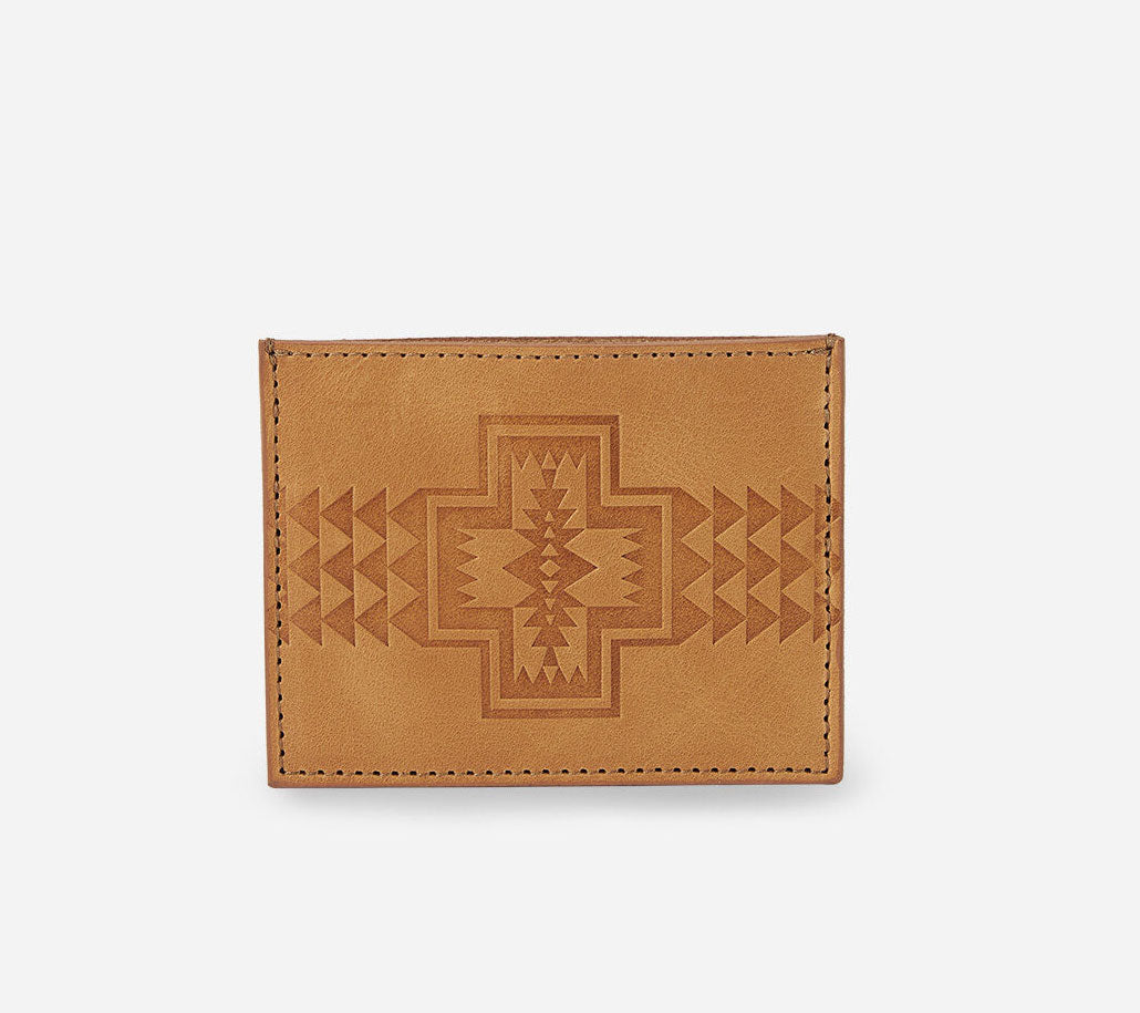Leather Embossed Slim Wallet