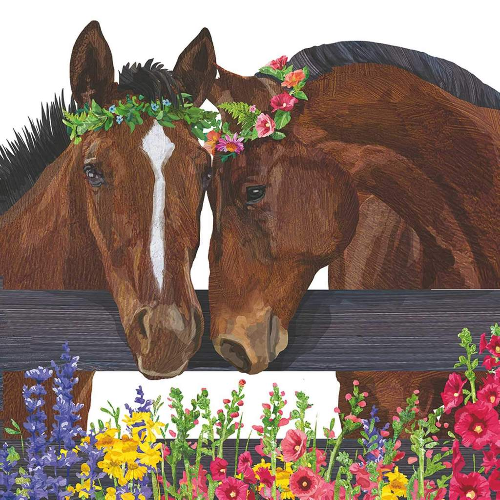 Sonny & cher horses cocktail napkins parties flower crowns springtime fun