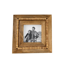 Load image into Gallery viewer, Square Wooden Bead Picture Frame
