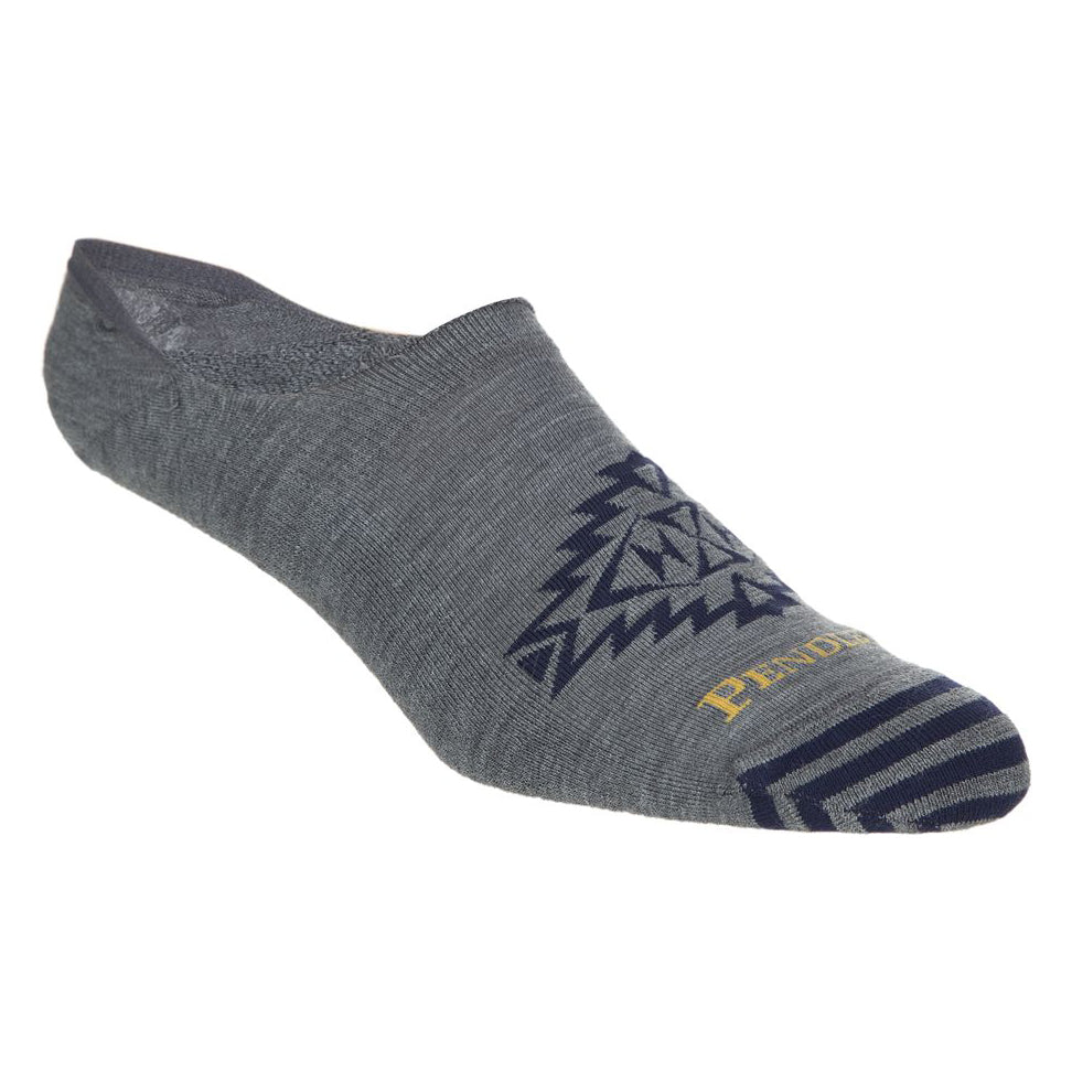 pendleton woolen mills star hero gray grey no show socks moc socks navy blue pattern