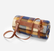 Load image into Gallery viewer, Motor Robe with Leather Carrier, Steens Mountain Plaid