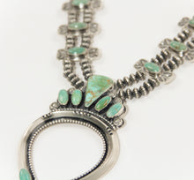 Load image into Gallery viewer, teller indian jewelry squash blossom handmade Navajo artists turquoise