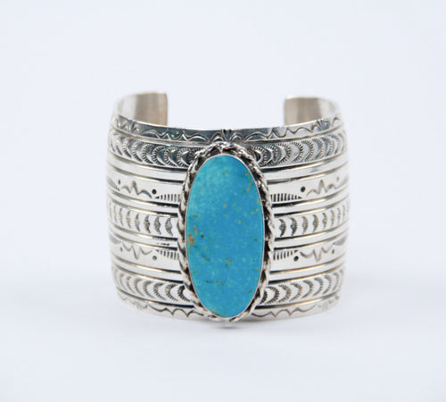 oval stone turquoise cuff bracelet teller indian jewelry sterling silver symbols stamped wide