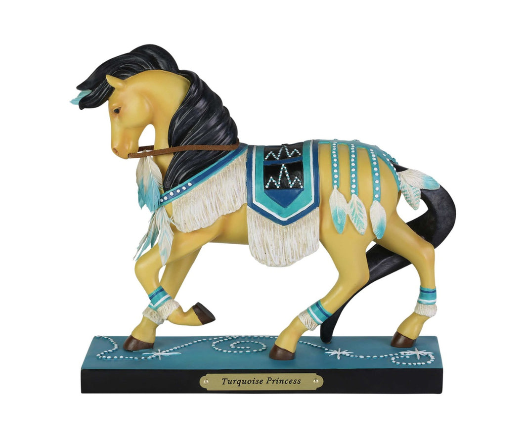 Turquoise Princess Painted Pony