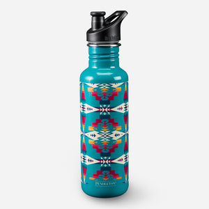 tuscon turquoise water bottle klean kanteen tribal pattern