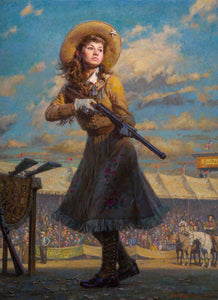 Annie Oakley little sure shot morgan weistling prix de west 2019 artist signed print art western