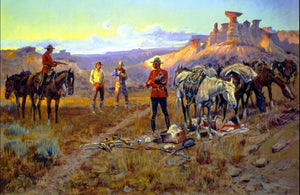 whiskey smugglers caught with the good by charles m russell cowboy painter western print