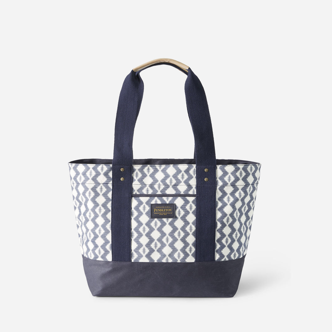 Pendleton Zigzag River Canopy Canvas Tote, Light Indigo