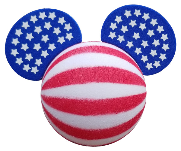 Mickey Mouse USA Stars and Stripes Car Antenna Topper / Desktop Bobble Buddy (Wide Stripes Style)
