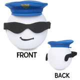 Coolballs Cop Policeman w/ Sunglasses Car Antenna Topper / Desktop Spring Stand Bobble