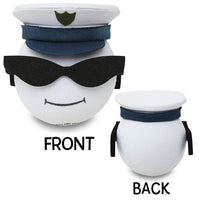 Coolballs Military Navy Officer Car Antenna Topper / Desktop Spring Stand Bobble