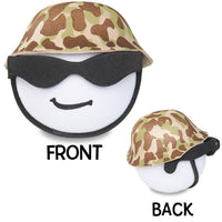 Coolballs U.S. Marine / Army Military w Sunglasses Antenna Topper / Desktop Spring Stand Bobble