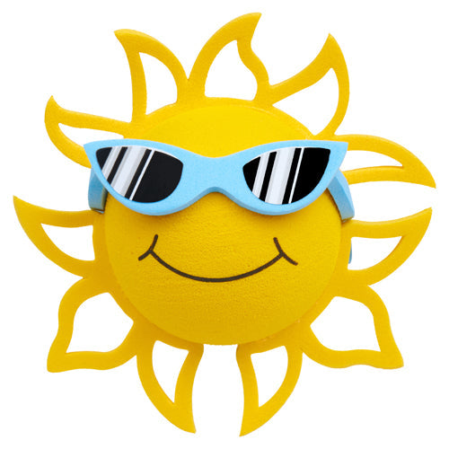 Coolballs California Sunshine w (Blue) Sunglasses Car Antenna Topper / Desktop Spring Stand Bobble