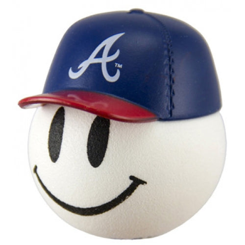 Atlanta Braves Cap Head Car Antenna Topper / Desktop Bobble Buddy (MLB Baseball)