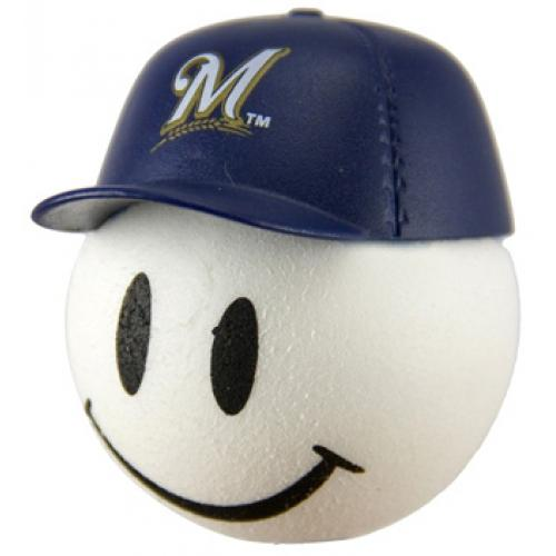 Milwaukee Brewers Cap Head Car Antenna Topper / Desktop Bobble Buddy (MLB Baseball)