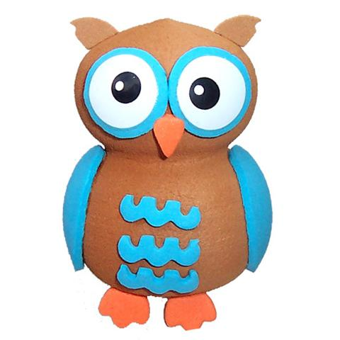 Tenna Tops Cute Blue Owl Car Antenna Topper / Desktop Bobble Buddy