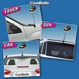 Coolballs Cool Diva - Raven Car Antenna Topper / Desktop Bobble Buddy