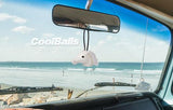 Coolballs Horse Car Antenna Topper / Desktop Spring Stand Bobble (White)