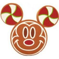 Mickey Gingerbread Man Face Antenna Topper / Desktop Spring Stand