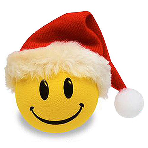 HappyBalls Happy Santa Car Antenna Topper / Mirror Dangler / Desktop Bobble Buddy