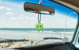 HappyBalls Happy Smiley Face Car Antenna Topper / Desktop Bobble Buddy (Green)