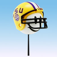 LSU Tigers Helmet Head Car Antenna Topper / Desktop Bobble Buddy (White Smiley) (College Football)