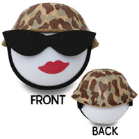 Coolballs U.S. Marine / Army Military Lady w Sunglasses Car Antenna Topper / Desktop Bobble Buddy