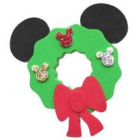 *Last One* Mickey Christmas Wreath Antenna Topper / Desktop Bobble Buddy