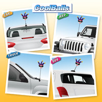 Coolballs Jesterette Car Antenna Topper / Mirror Dangler / Desktop Bobble Buddy
