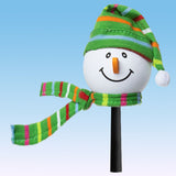Tenna Tops Snowman Winter Hat Antenna Topper (Green) / Desktop Bobble Buddy
