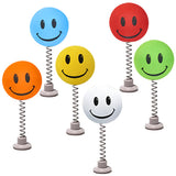 ...HappyBalls Happy Smiley Happy Face Car Antenna Toppers / Desktop Spring Stand Bobbles (Pack of 6 Assorted Colors)