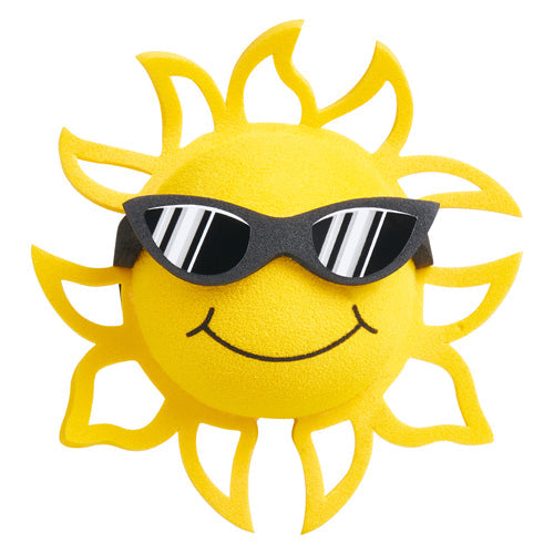 Coolballs California Sunshine w (Black & White) Sunglasses Car Antenna Topper / Desktop Spring Stand Bobble