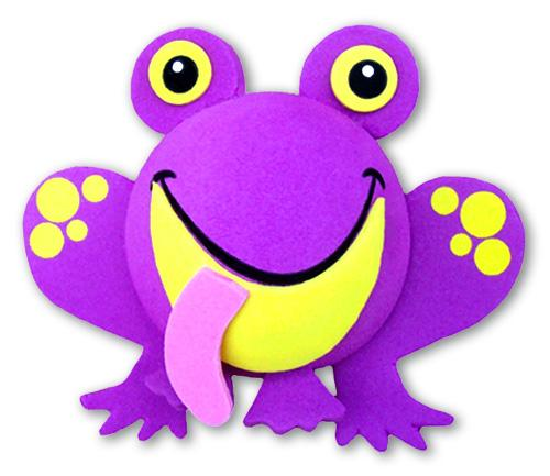 Tenna Tops Cute Purple Frog Car Antenna Topper / Desktop Bobble Buddy