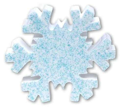 Tenna Tops Winter Snowflake w Blue Sparkles Antenna Topper / Desktop Bobble Buddy