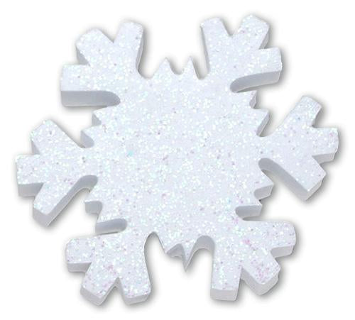 Tenna Tops Winter Snowflake w White Sparkles Antenna Topper / Desktop Bobble Buddy