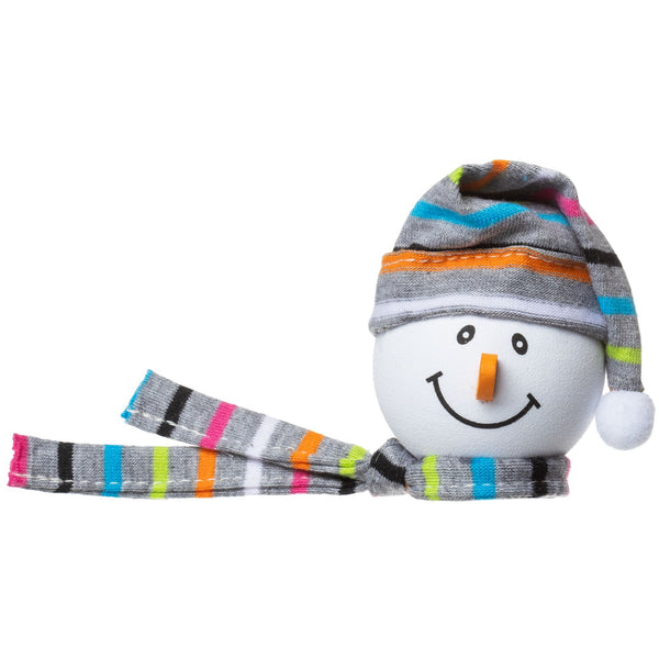 Tenna Tops Winter Snowman Winter Hat Antenna Topper (Grey) / Desktop Bobble Buddy