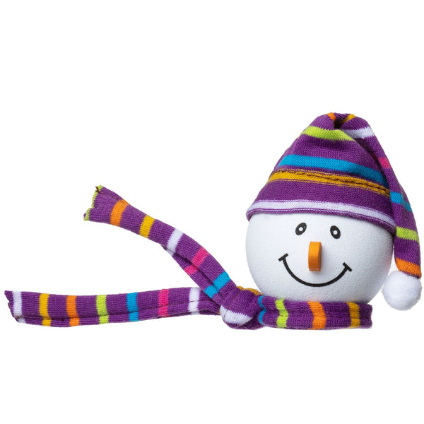 Tenna Tops Winter Snowman Winter Hat Antenna Topper (Purple) / Desktop Bobble Buddy