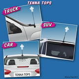 Tenna Tops White Christian Cross Car Antenna Topper / Desktop Bobble Buddy