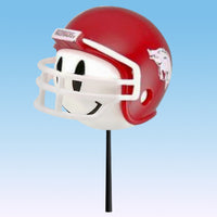 Arkansas Razorbacks Helmet Head Car Antenna Topper / Desktop Bobble Buddy (White Smiley) (College Football)