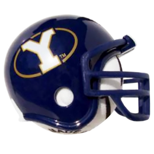 BYU Cougars Helmet Head Car Antenna Topper / Desktop Bobble Buddy (White Smiley) (College Football)