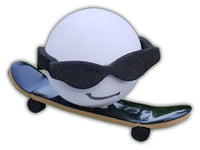 Coolballs Skateboarder Shred Dog Car Antenna Topper / Desktop Bobble Buddy