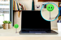 ...HappyBalls Happy Smiley Face Car Antenna Topper / Desktop Bobble Buddy (Green)