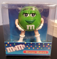 Original 2003 Green M&M Motor Mates Car Antenna Topper / Desktop Stand (Boxed)